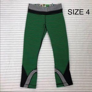 LULULEMON SEAWHEEZE • Green cropped leggings